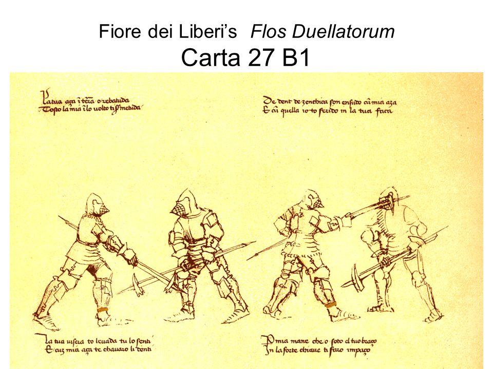 Fiore dei Liberi's Flos Duellatorum Carta 27 B1