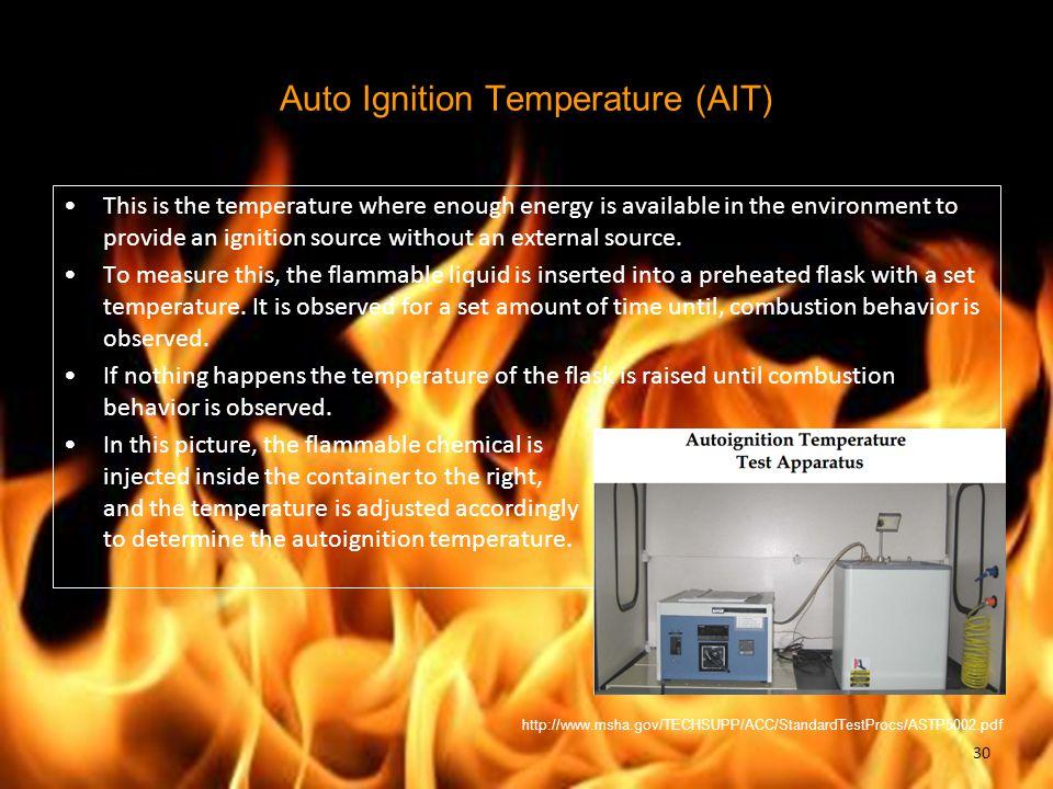 Auto Ignition Temperature (AIT)