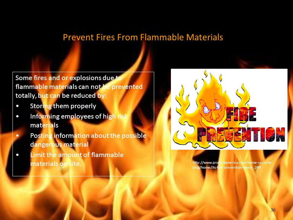Prevent Fires From Flammable Materials