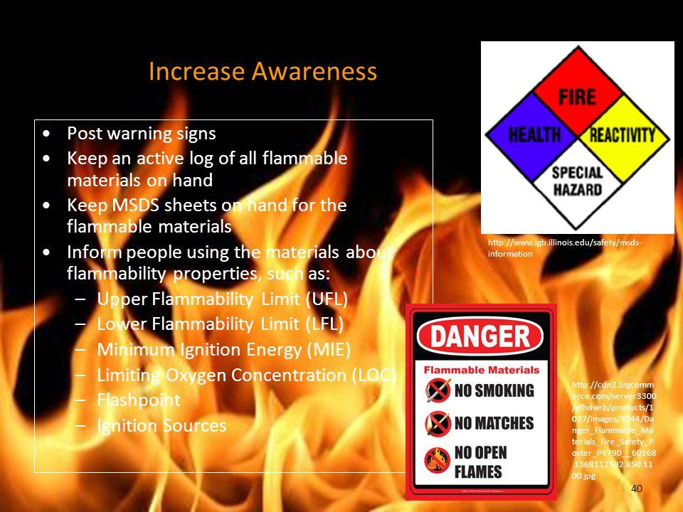 Increase Awareness Post warning signs