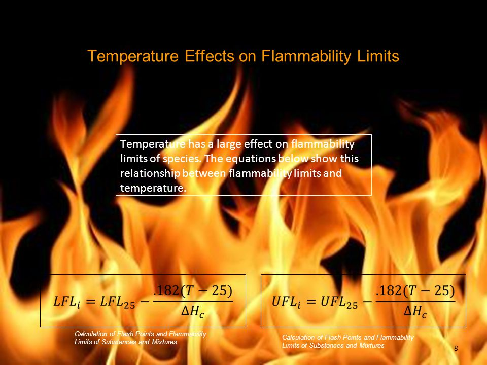 Temperature Effects on Flammability Limits