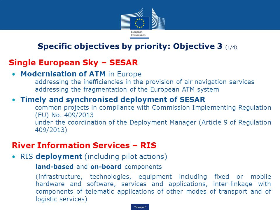 Specific objectives by priority: Objective 3 (1/4)