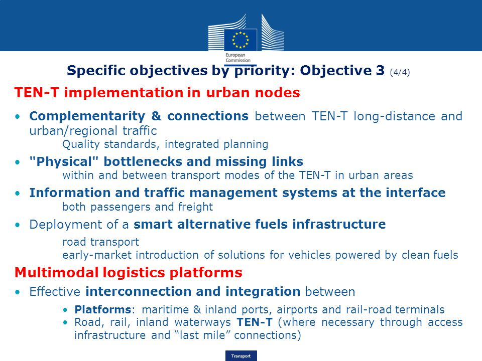 Specific objectives by priority: Objective 3 (4/4)