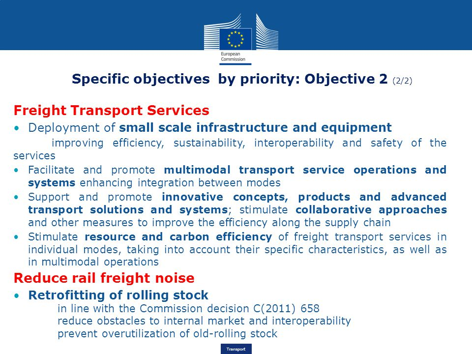 Specific objectives by priority: Objective 2 (2/2)