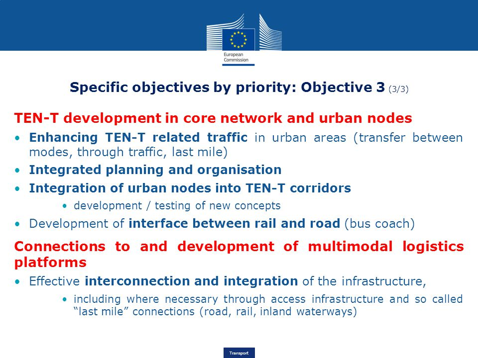 Specific objectives by priority: Objective 3 (3/3)