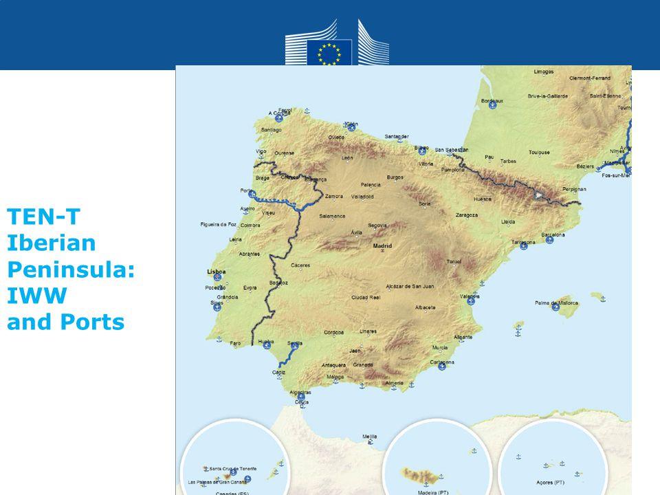 TEN-T Iberian Peninsula: IWW and Ports