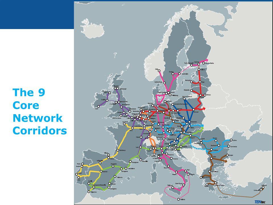 The 9 Core Network Corridors