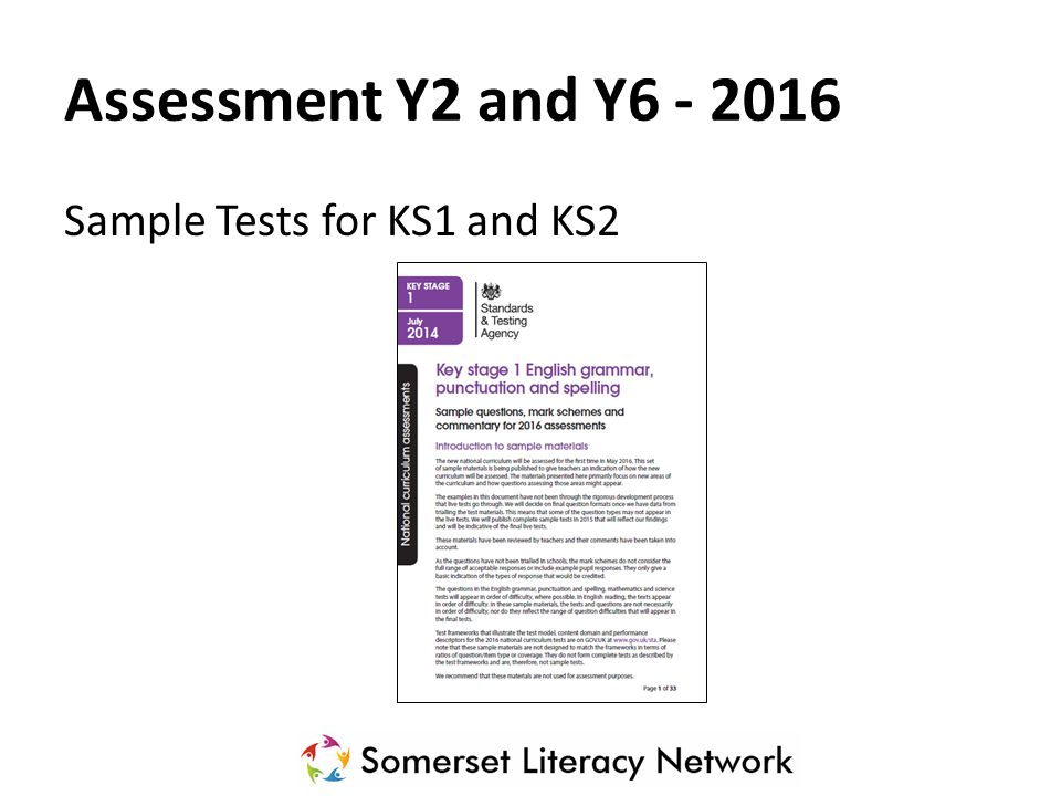 Assessment Y2 and Y6 - 2016 Sample Tests for KS1 and KS2