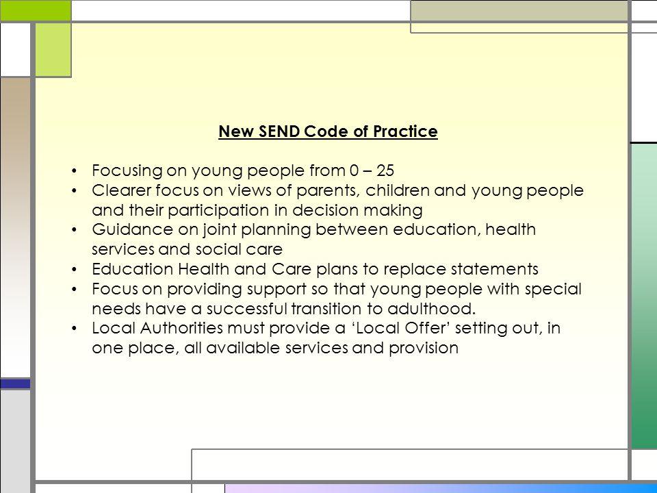 New SEND Code of Practice