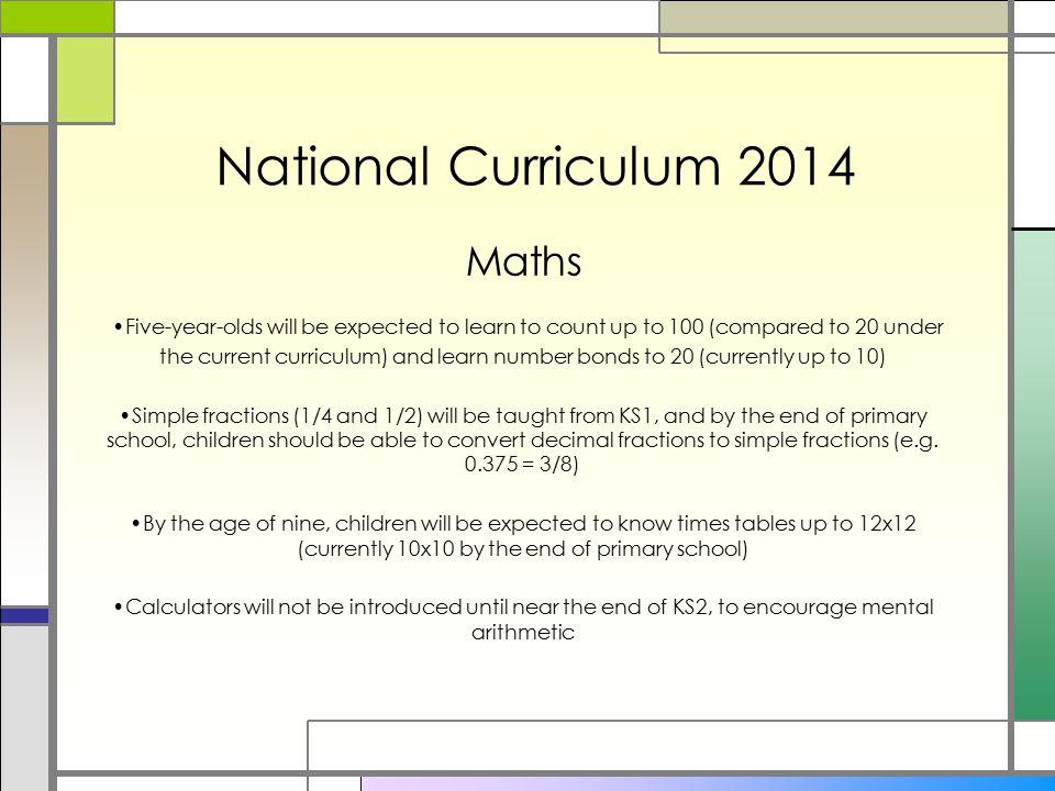 National Curriculum 2014 Maths
