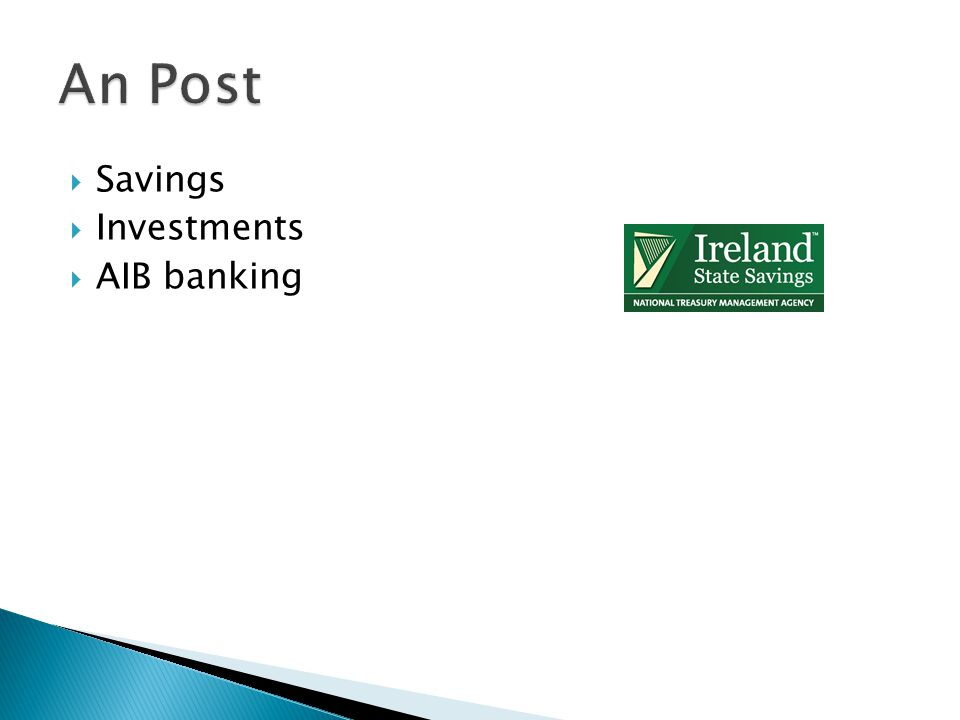 An Post Savings Investments AIB banking