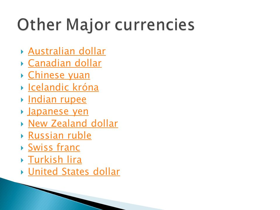 Other Major currencies