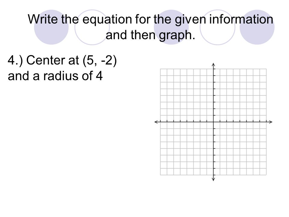 Write the equation for the given information and then graph.