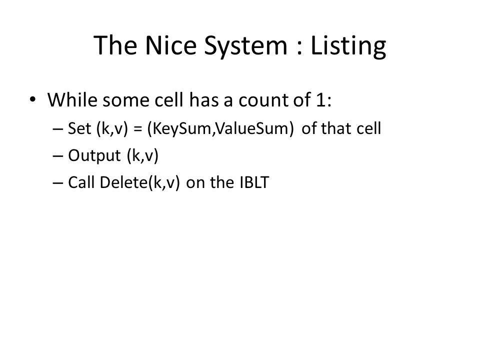 The Nice System : Listing