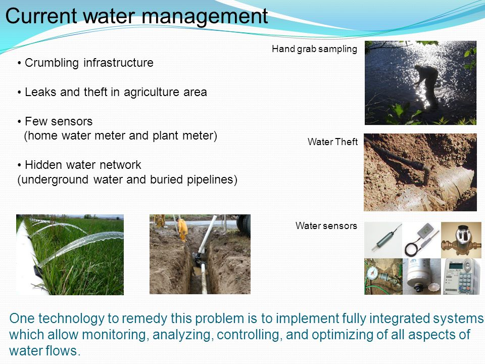 Current water management