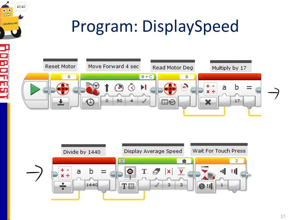 Program: DisplaySpeed