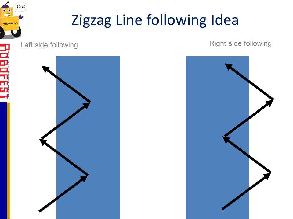 Zigzag Line following Idea