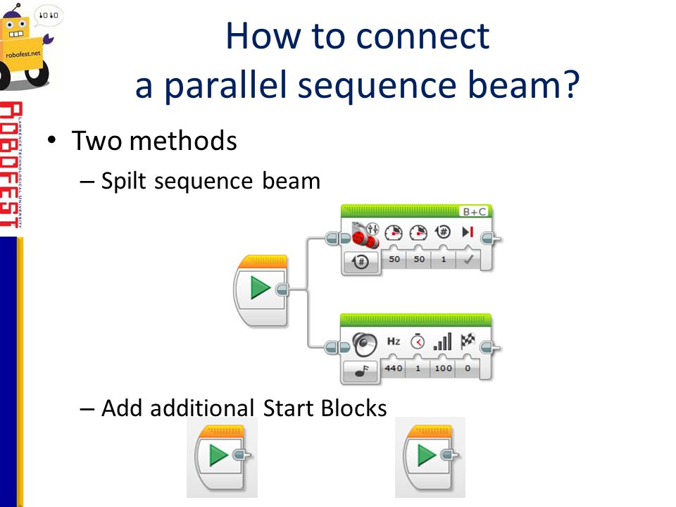 How to connect a parallel sequence beam