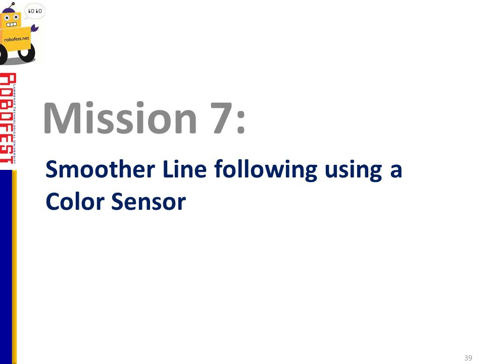 Smoother Line following using a Color Sensor