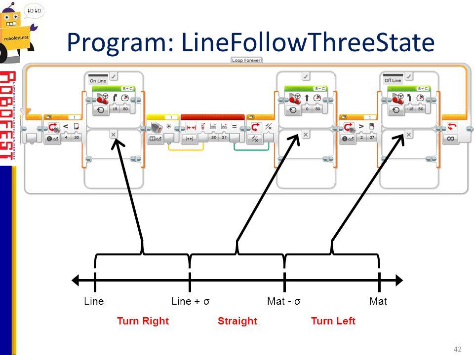 Program: LineFollowThreeState
