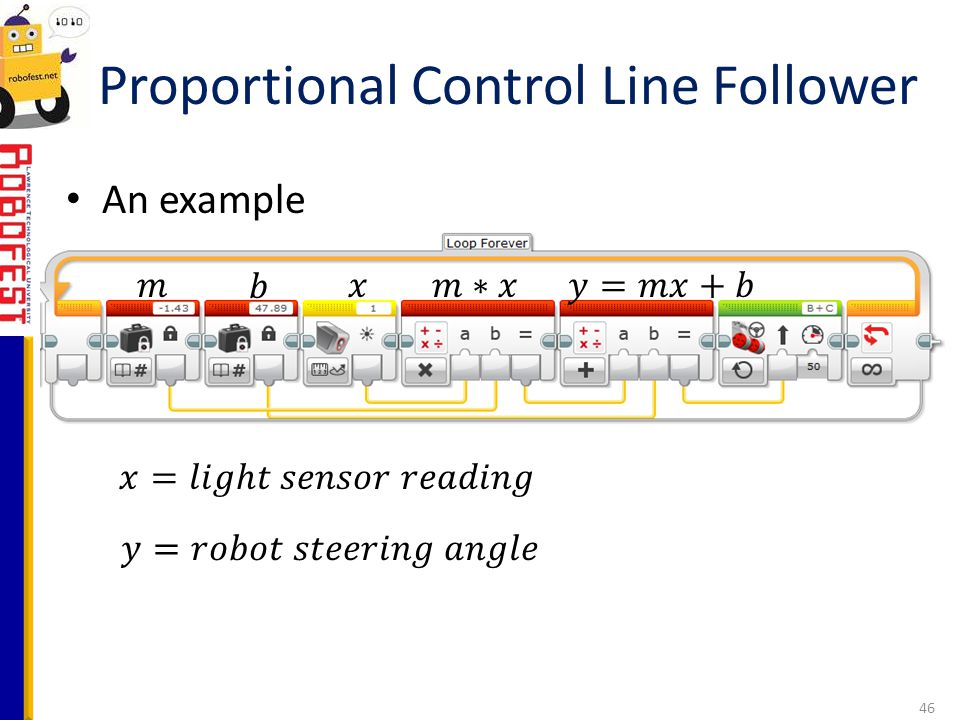 Proportional Control Line Follower