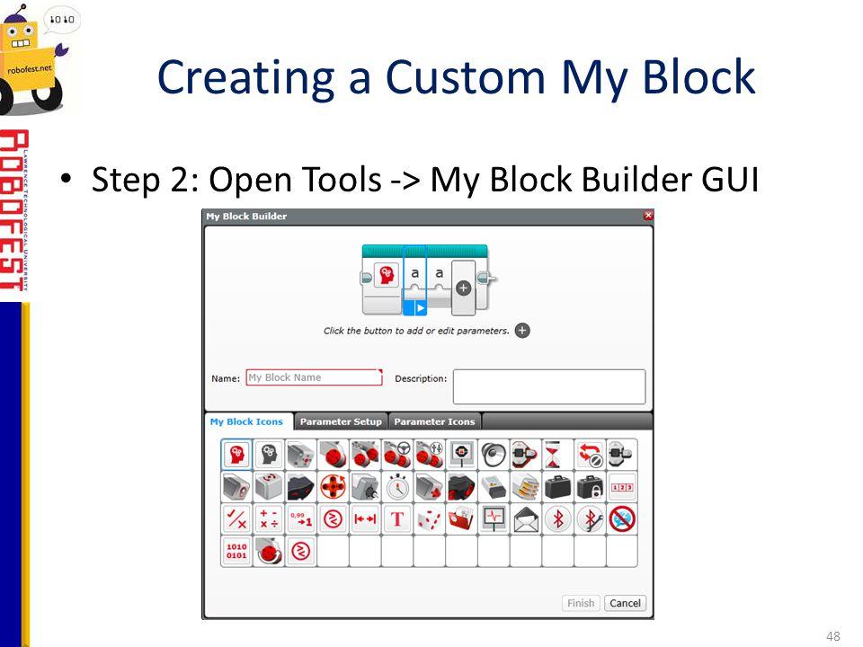 Creating a Custom My Block