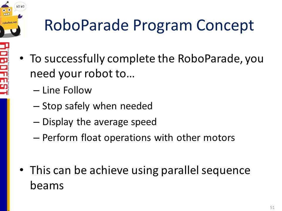 RoboParade Program Concept