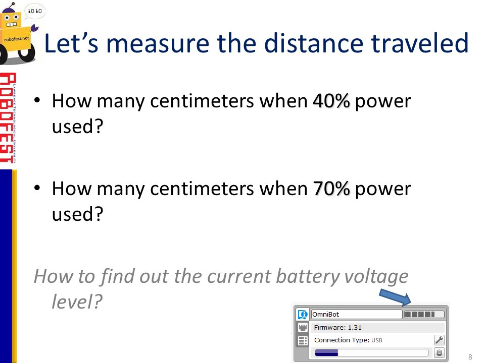 Let's measure the distance traveled