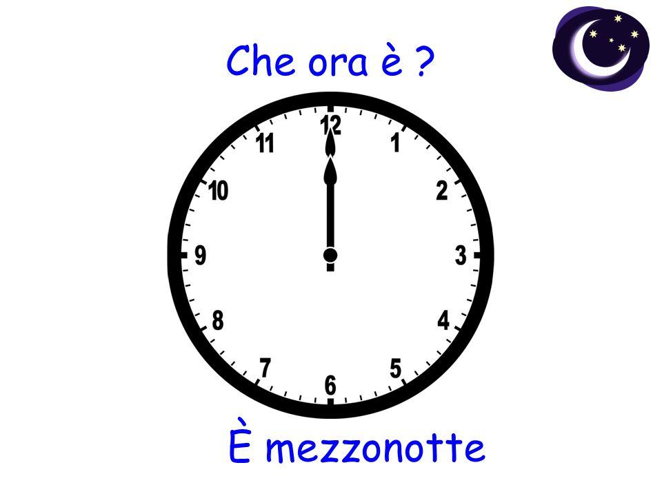 Che ora è È mezzonotte