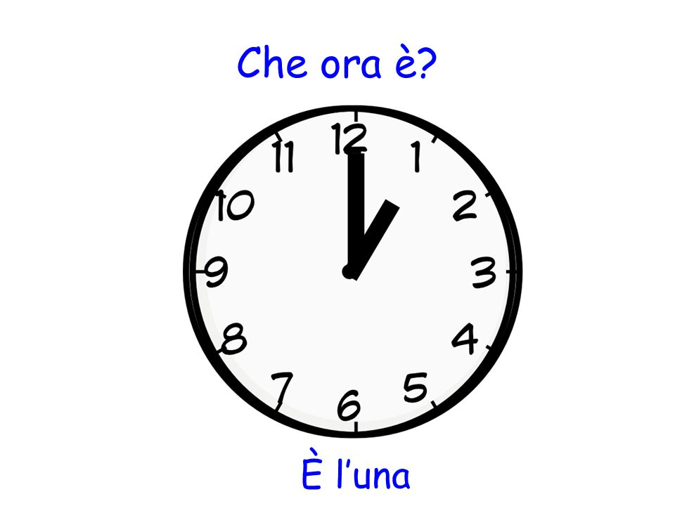 Che ora è È l'una
