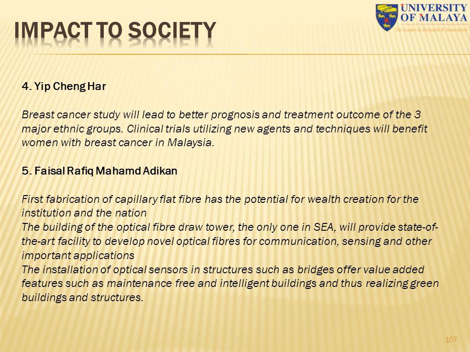 IMPACT TO SOCIETY 4. Yip Cheng Har