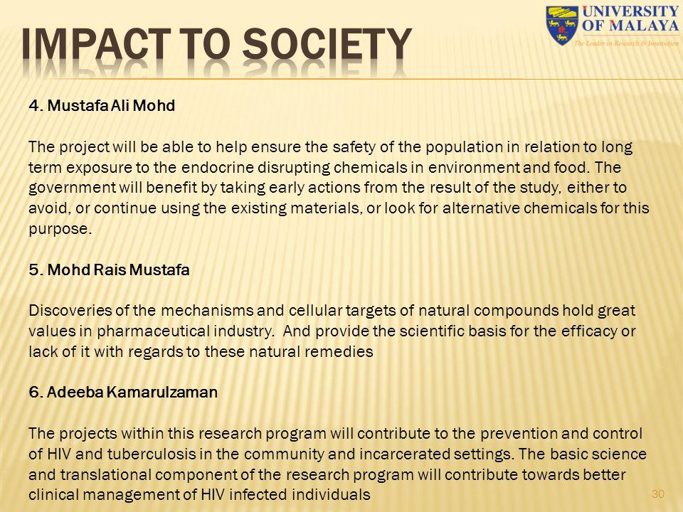IMPACT TO SOCIETY 4. Mustafa Ali Mohd