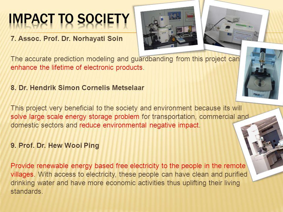 IMPACT TO SOCIETY