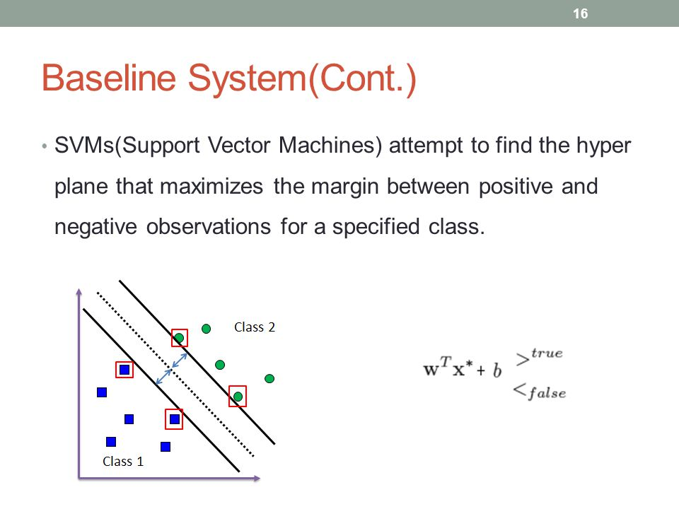 Baseline System(Cont.)