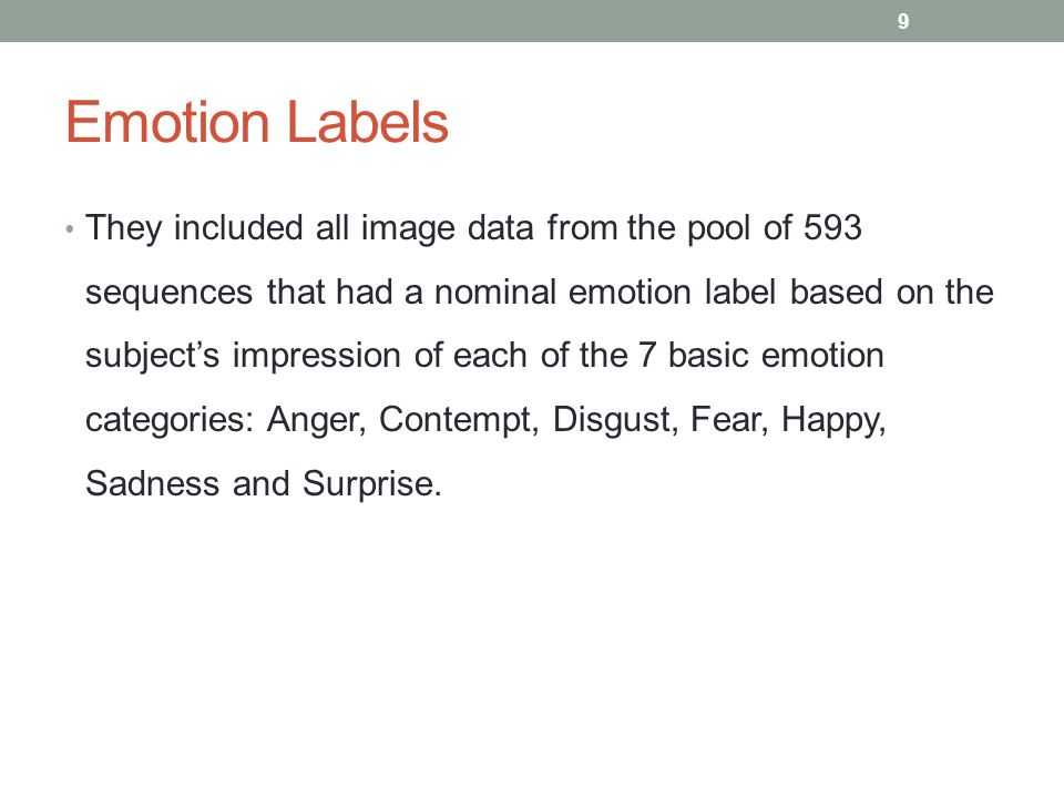 Emotion Labels