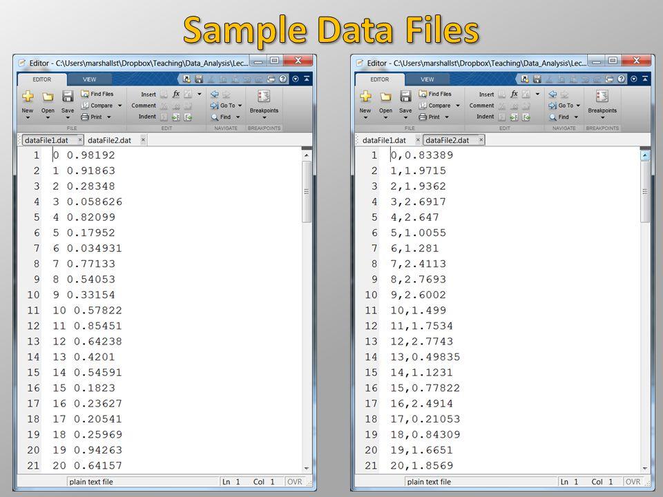 Sample Data Files