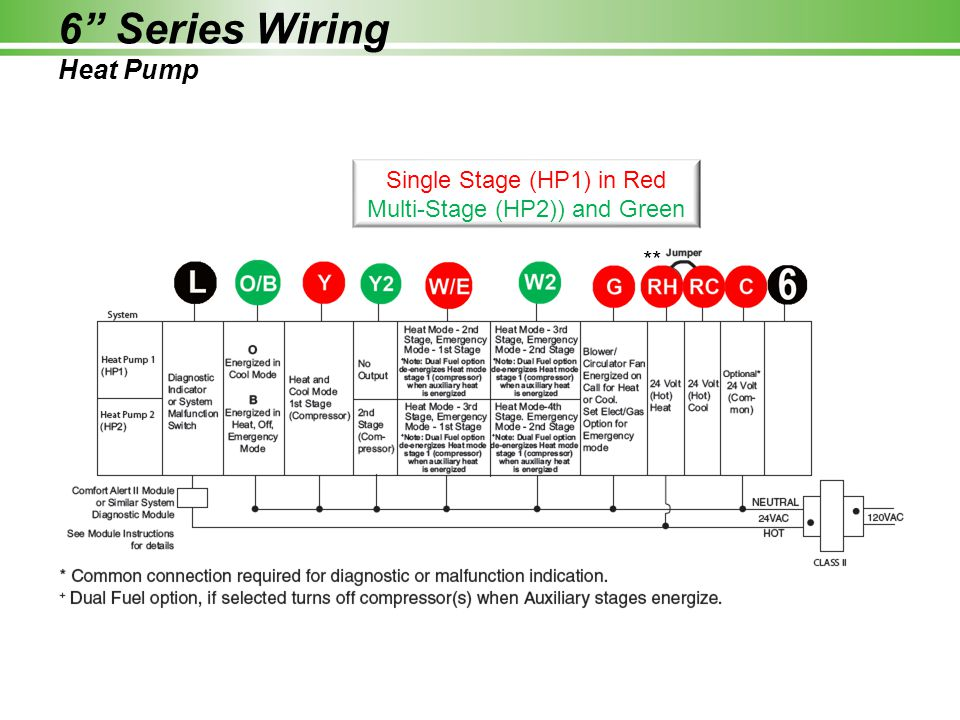 6 Series Wiring Heat Pump