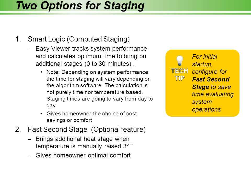 Two Options for Staging