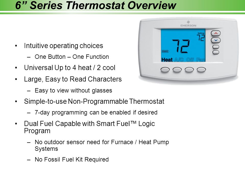 6 Series Thermostat Overview