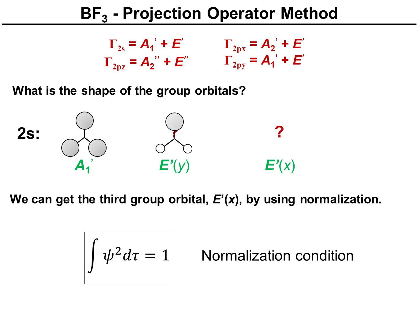BF3 - Projection Operator Method