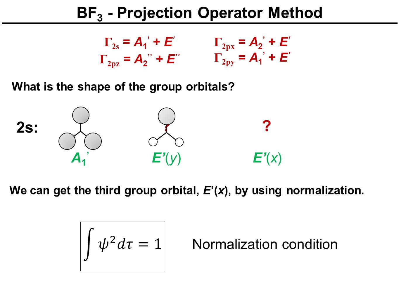 BF3 - Projection Operator Method