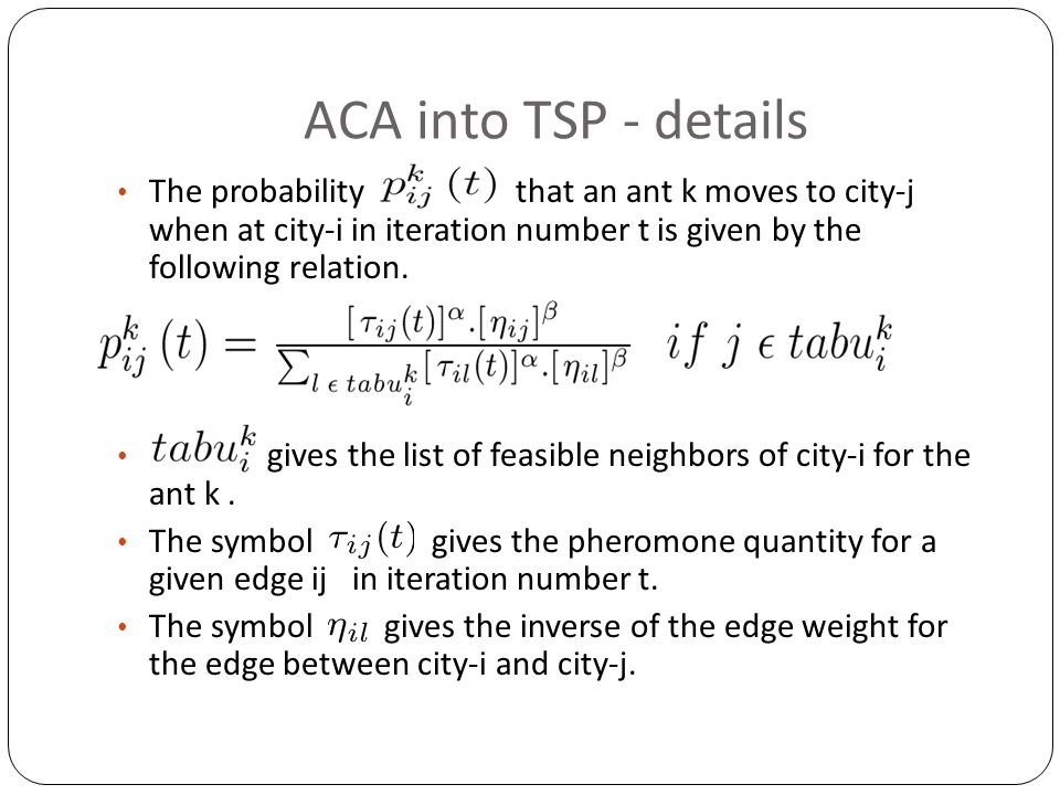 ACA into TSP - details