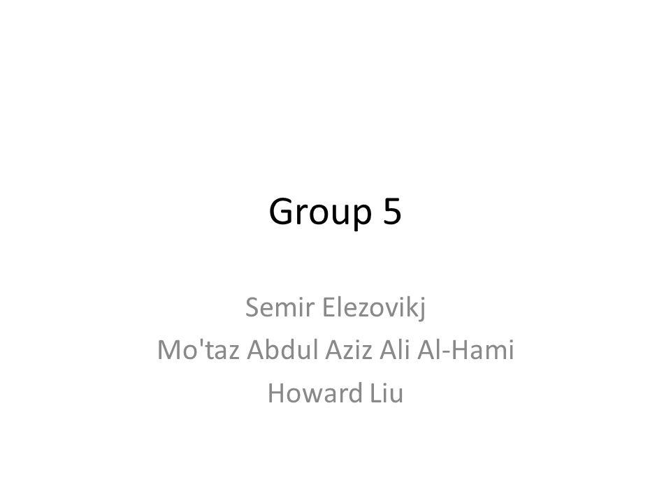 Semir Elezovikj Mo taz Abdul Aziz Ali Al-Hami Howard Liu