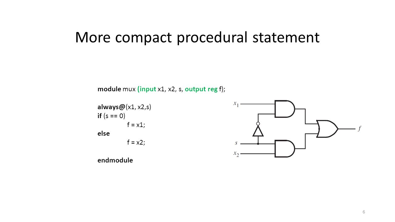 More compact procedural statement