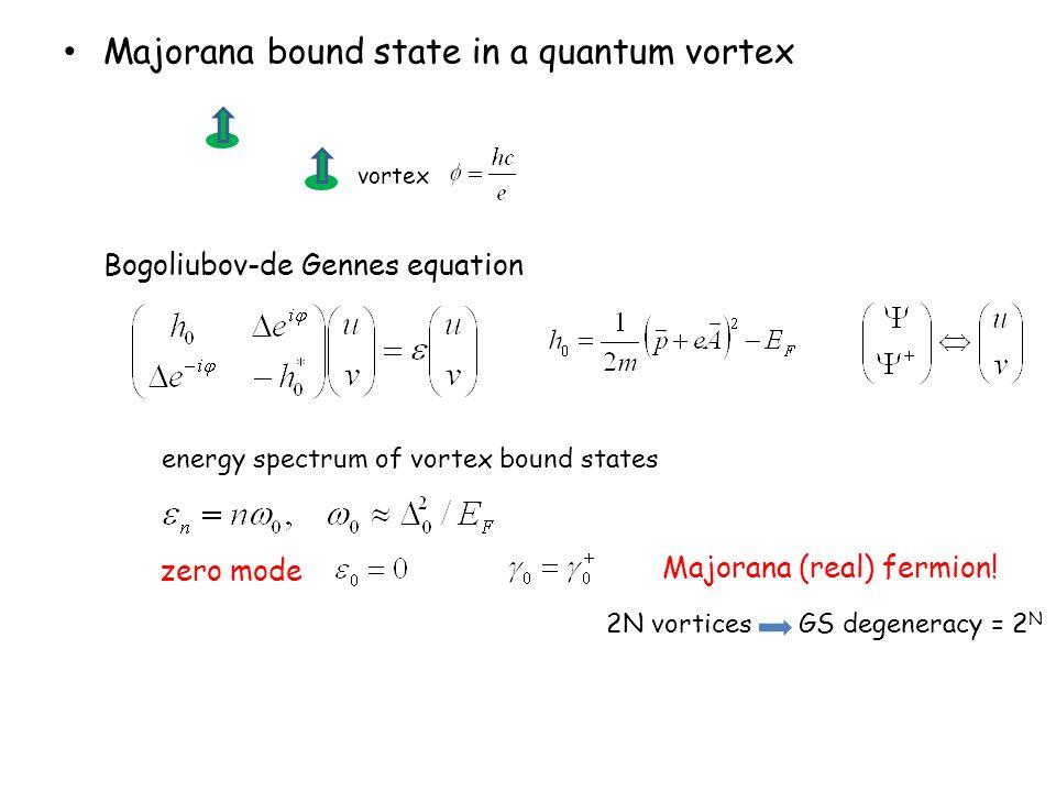 Majorana bound state in a quantum vortex