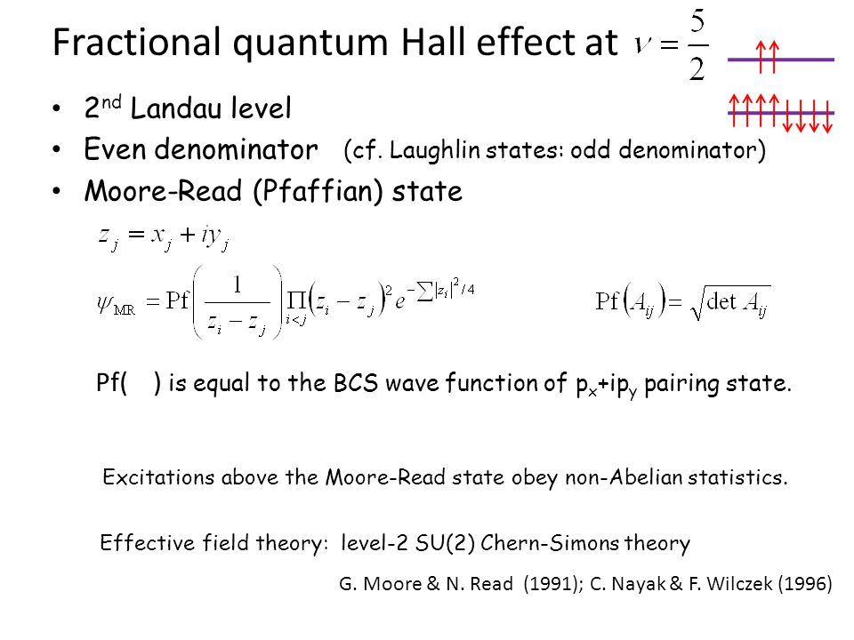 Fractional quantum Hall effect at