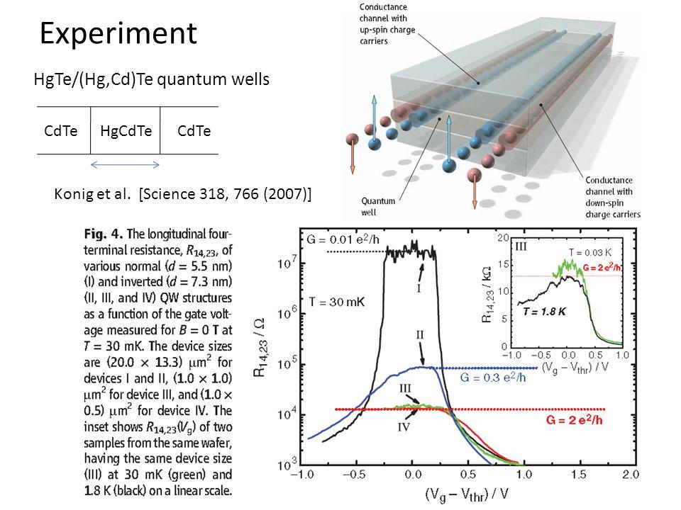 Experiment HgTe/(Hg,Cd)Te quantum wells CdTe HgCdTe CdTe