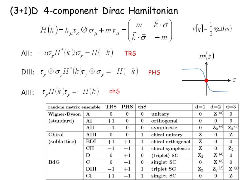 (3+1)D 4-component Dirac Hamiltonian