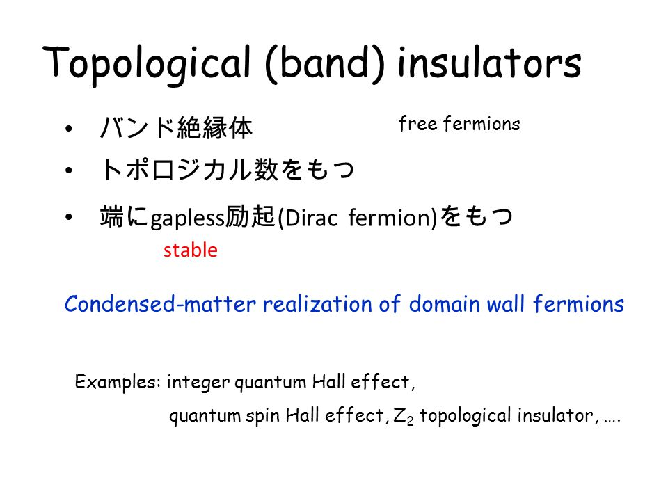 Topological (band) insulators