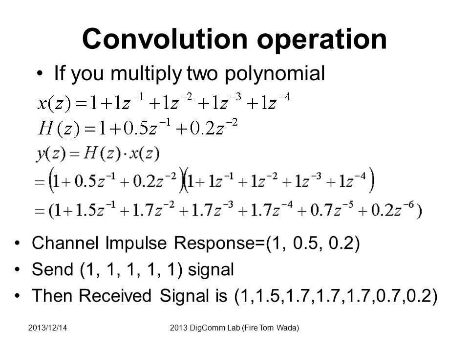 Convolution operation